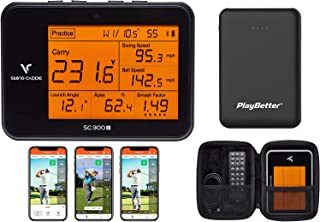 $514 » Swing Caddie SC300i by Voice Caddie Golf Launch Monitor Power Bundle | 2021 | with PlayBetter Portable Charger & Protectiv...