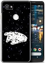 STUFF4 Gel TPU Phone Case/Cover for Google Pixel 2 XL/Falcon Ship Design/Empire Galaxy Wars Collection