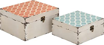 Plutus Brands Trendy and Vintage Styled Square Shaped (Set of 2)