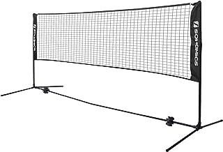 comprar comparacion SONGMICS Red de Tenis Bádminton de Longitud, de Pie, Altura Ajustable Entre 107-155 cm