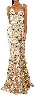Zilcremo Damen Elegant Kleider Abendkleider Lang Ballkleider Festliche Kleider Cocktailkleid Maxikleider Sexy Paillette Brautjunfer Meerjungfrau Lange Kleid