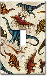 Art Plates - Dinosaur Toss Switch Plate - Single Toggle