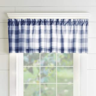 Elrene Home Fashions Farmhouse Living Buffalo Check Window Kitchen Valance, 60