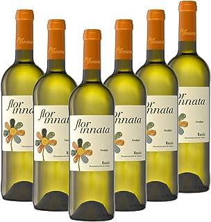 Nueva Añada Flor Innata Caja de 6, Vino Blanco Verdejo Rueda Valdecuevas, x6, 750 ml, Coupage Verdejo y Sauvignon Blanc 6 botellas