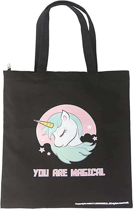 Amazon Com Natural Cotton Heavy Canvas Unicorn Tote Bag 16 Oz Reusable Unicorn Shopping Bag Grocery Bag Beach Bag School Bag Office Bag Unicorn Black Kitchen Dining
