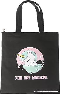 Natural Cotton Heavy Canvas Unicorn Tote Bag 16 Oz-Reusable Unicorn Shopping Bag/Grocery Bag/Beach Bag/School Bag/Office B...