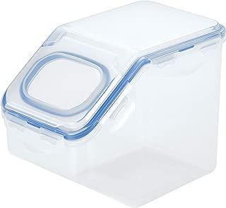 Lock & Lock HPL701 Easy Essentials Pantry Food Storage Container With Flip-Top Lid / Foor Storage Bin With Flip-Top Lid - 6 Cup, Clear