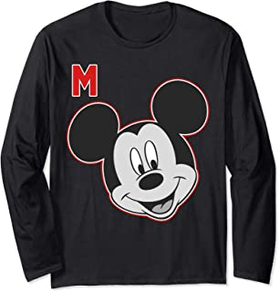 Disney Mickey And Friends Mickey Mouse Varsity Big Face Manche Longue
