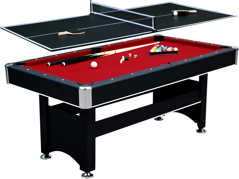 Hathaway Spartan 6' Pool Table, 72  L x 38  W x 31  H, Black
