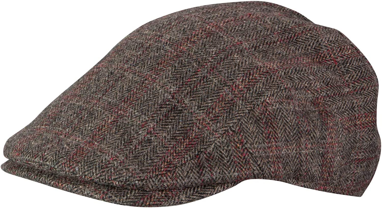 Broner Max 49% supreme OFF Mens Aberdeen Wool Blend Plaid Satin Red Tie Cap Ivy with