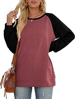 Sponsored Ad - Sipaya Women's Crewneck Sweatshirts Contrast Color Long Sleeve Tops