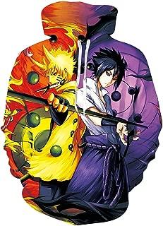 Pemela Mens Naruto Hoodie Various Pattern Designed Anime Hooded Sweatshirt M-XXL