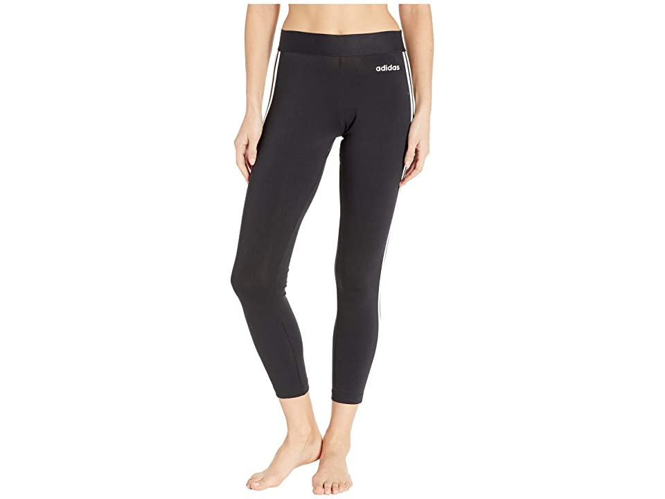adidas Essential 3-Stripes Long Tights (Black/White) Women