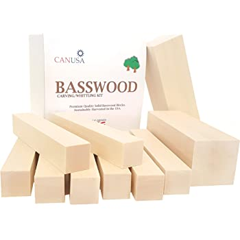 Best Value Premium Smooth Wisconsin Basswood for Carving or Whittling. Suitable for Beginner to Expert Carvers and Whittling.