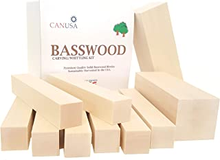 Best Value Premium, Wisconsin Basswood, Carving/Whittling Blocks. Suitable for Kids or..