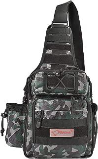 Fiblink Waterproof Sports Single Shoulder Fishing Tackle Bag Backpack or Handbag Crossbody Messenger Sling Bags for Camping Hiking Cycling Outdoors Sport