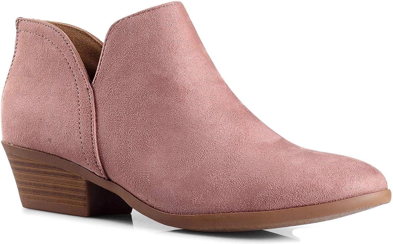 City Classified Women's Ankle Bootie Side V Dusty bluesh 5.5