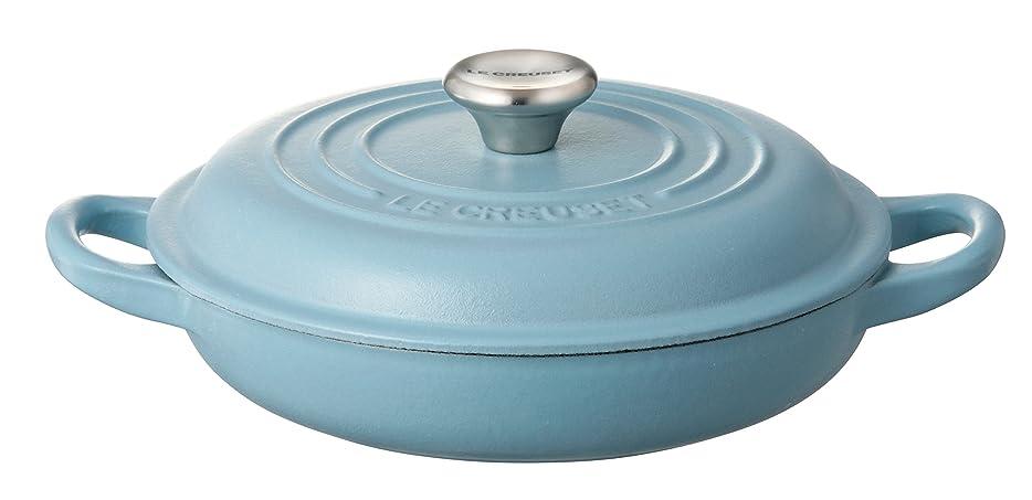 ドリンクラベル結果ルクルーゼ ビュッフェ キャセロール ホーロー 鍋 IH 対応 18cm テラスブルー 21032-18-673