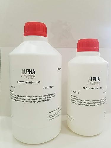 Alpha System 103 Crystal Clear Epoxy Resin Kit 1.5 kg