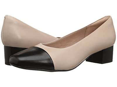Clarks Chartli Diva (Nude Pink/Black Leather Combination) Women