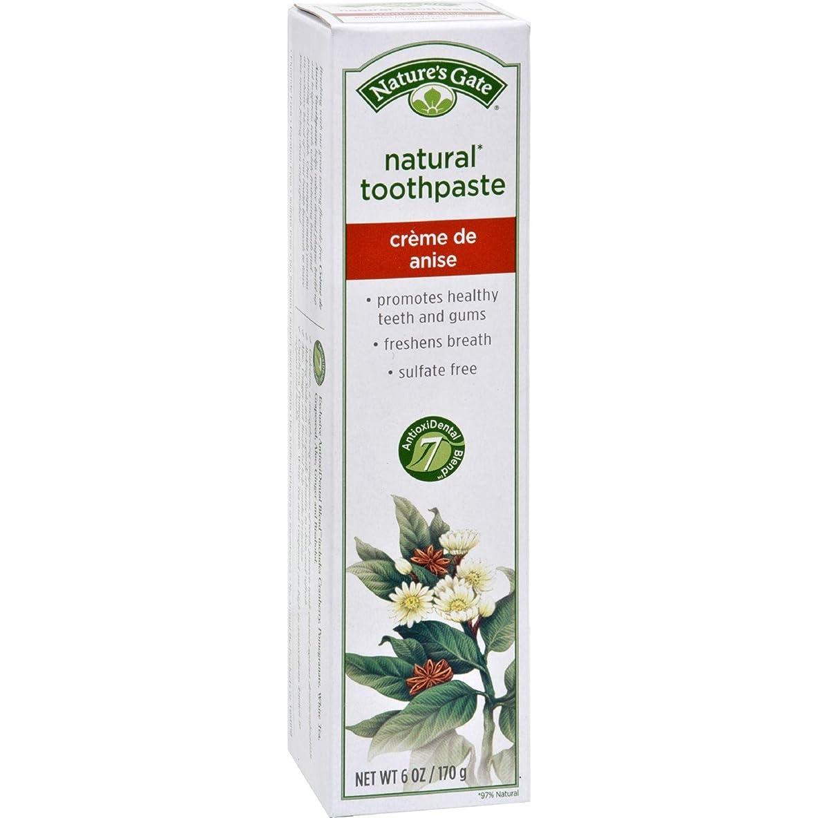下手メロンぬるい海外直送品Toothpaste Creme De, Anise 6 Oz by Nature's Gate