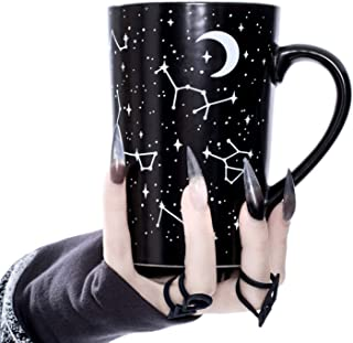 Tall Coffee Mug (Voyager) by Rogue + Wolf Witch Goth Accessories Unique Astronomy Gifts for Women Cute Christmas Mugs Hocu...