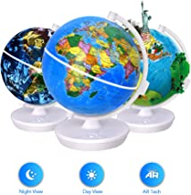 Smart World Globe – 2 In 1 Illuminated Globe with Built-in Augmented Reality..