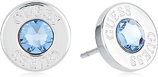 orecchini guess I cristalli blu brillante acciaio inossidabile chirurgico placcato rodio UBE78097 [AC1150]