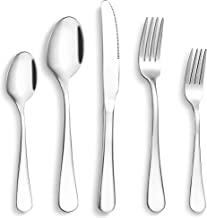 WEZVIX Silverware Flatware Set 20-Piece, Stainless Steel Flatware Cutlery Set Service for 4, Tableware Cutlery Set Kitchen...