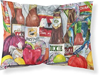 Caroline's Treasures 1017PILLOWCASE New Orleans Beers And Spices Moisture Wicking Fabric Standard Pillowcase, Large, Multi...
