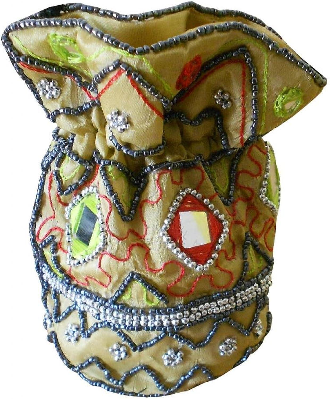 6.5  X 6  Embroidered Decor Pocket Bag Women Shoulder Long Strap Pouch Bag