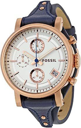 FOSSIL[フォッシル] ES3838 Original Boyfriend オリジナルボーイフレンド ネイビー レザー ローズゴールド レディース 腕時計 [並行輸入品]