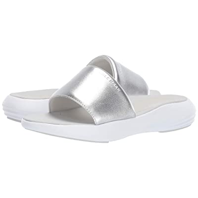 Cole Haan 2.0 Ella Grand Banded Slide Sandal (CH Argento Leather/Optic White) Women
