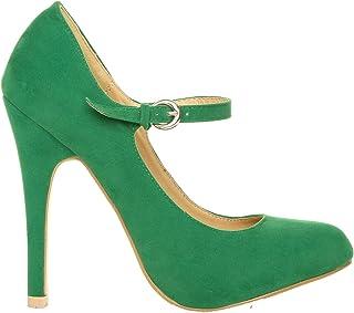 Amazon.co.uk: Green - Court Shoes