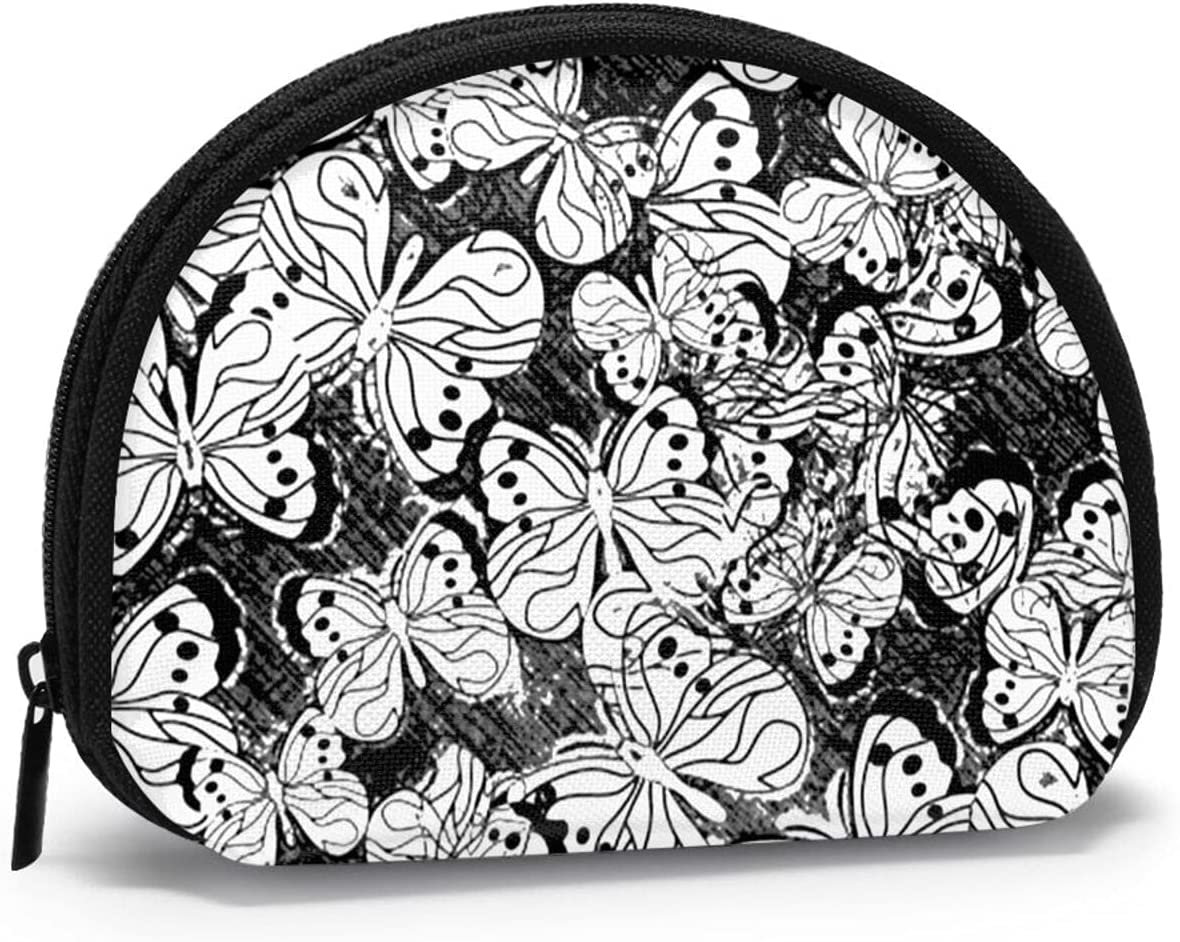 New Shipping Free Shipping Women Change Coin Purse Butterfly Girl Floral Silhouette Pattern Tucson Mall