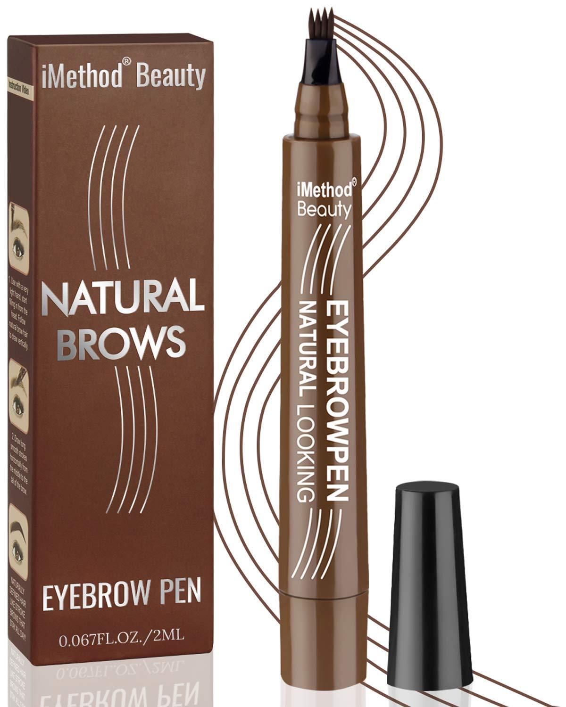 iMethod Eyebrow Pen - Upgrade Eyebrow TattooPen, Eyebrow Makeup, Long Lasting, Waterproof and Smudge-proof, Dark Brown : Beauty & Personal Care