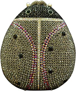 Diamante Clutch-Bags Ladies Sequin Crystal-Purse Womens Chain Evening-Bags Glitter Wedding Beetle