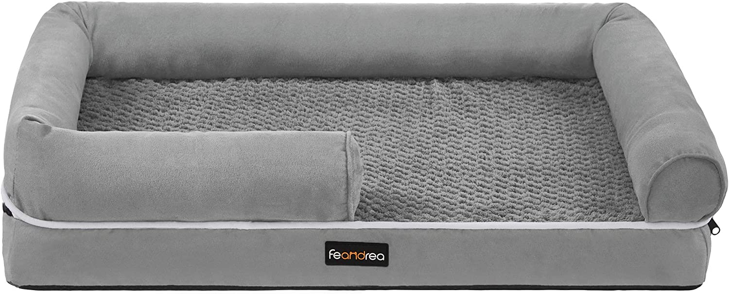 FEANDREA Dog Bed Sale price Orthopedic Outlet sale feature Sofa Foam Mat Remo Memory