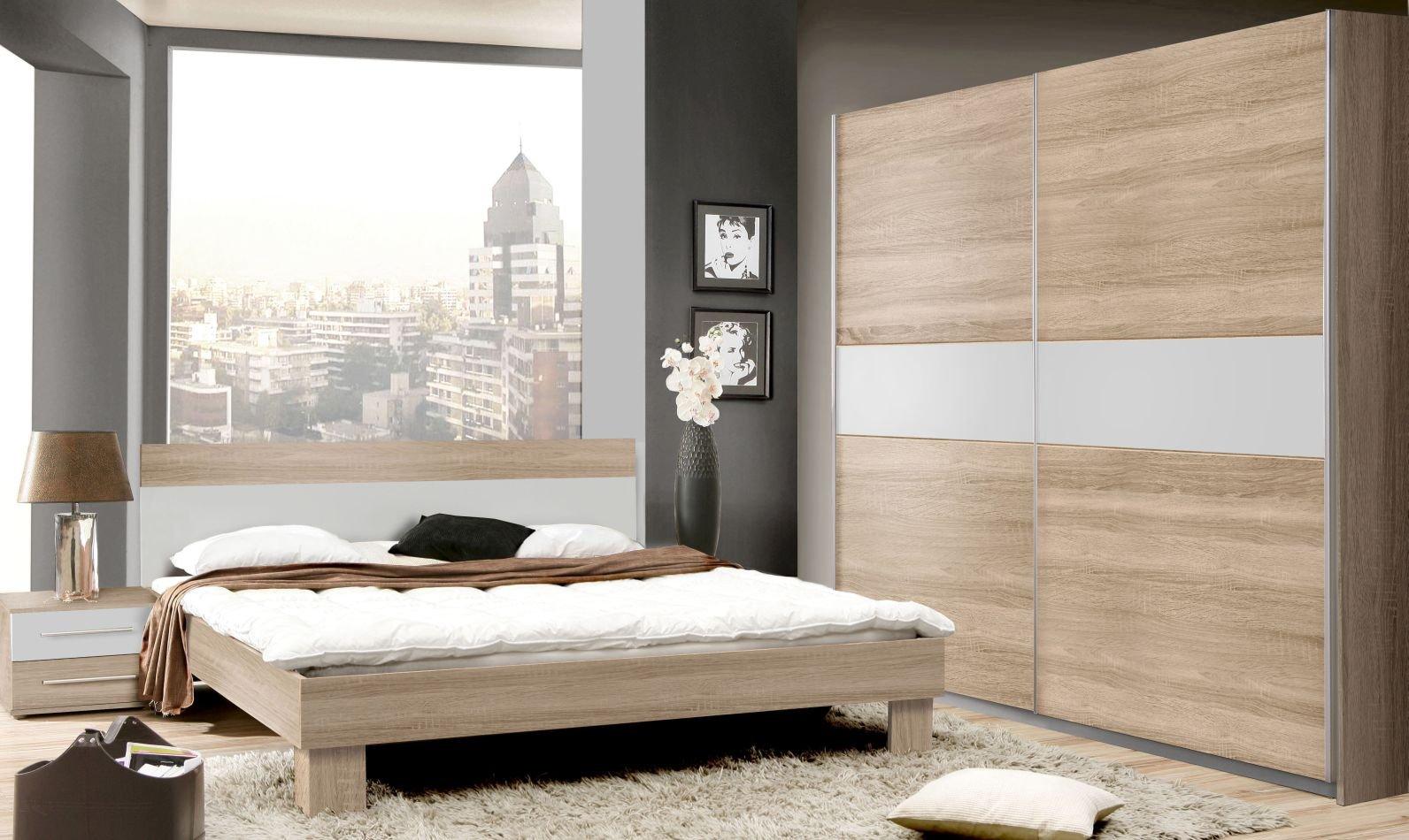 Schlafzimmer Komplett - Set Abuko A, 18-teilig, Farbe: Sonoma Eiche