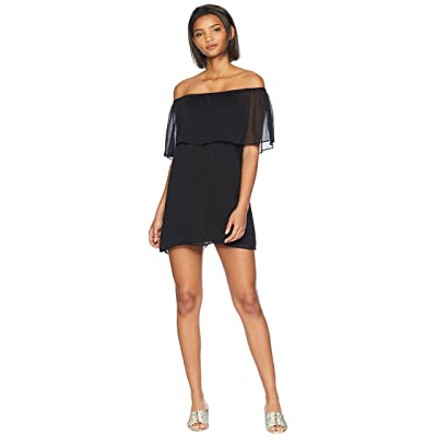 BB Dakota Manic Pixie Dream Off the Shoulder Dress (Black) Women