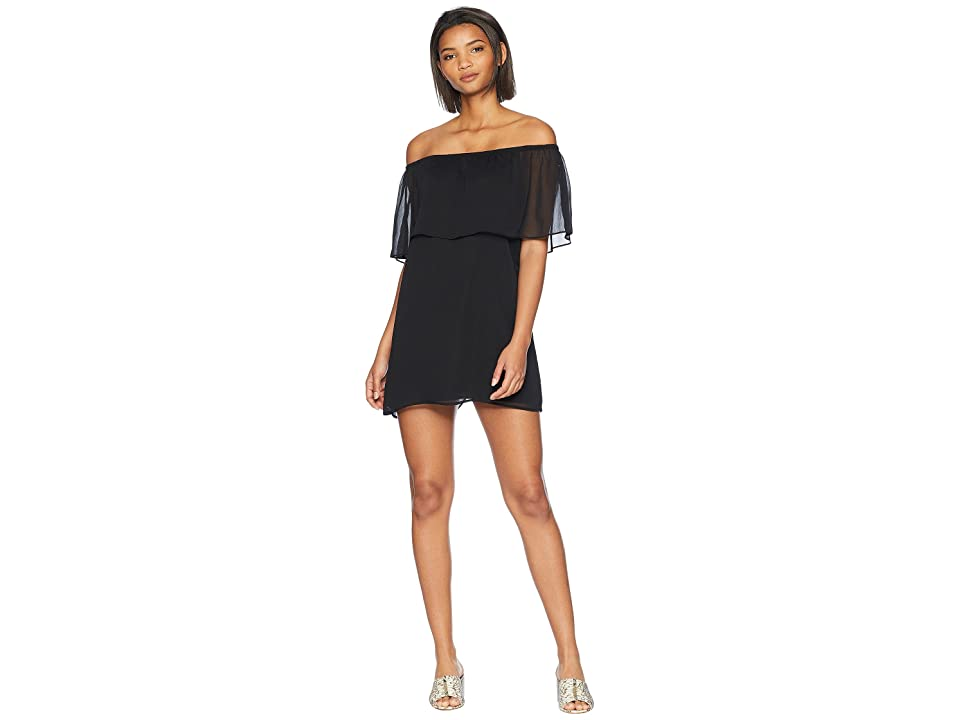 BB Dakota Manic Pixie Dream Off the Shoulder Dress (Black) Women