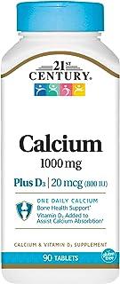 21st Century Health Care. Calcio 1000 + Vitamina D3. x90Caps