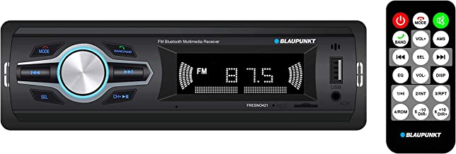 Blaupunkt Fresno421 Media Receiver - Bluetooth, FM Tuner, USB, 2 Channel Output, RCA, Preloaded Presets, Remote Control, SD Card Slot, Easy Installation, Handsfree