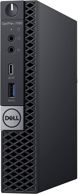 Dell Optiplex 7060 Micro MFF Desktop PC Intel i7-8700T 6-Cores 2.40GHz 16GB DDR4 New 256GB M.2 NVMe SSD 1TB SATA SSD, WiFi BT HDMI New Dell KB & Mouse Windows 10 Pro (Renewed)