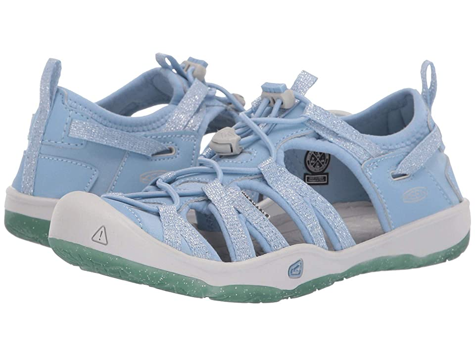 Keen Kids Moxie Sandal (Little Kid/Big Kid) (Powder Blue/Vapor) Girls Shoes