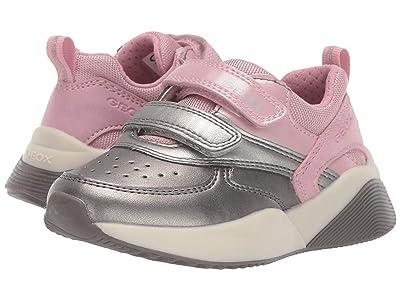 Geox Kids Jr Sinead 1 (Toddler) (Pink/Silver) Girls Shoes