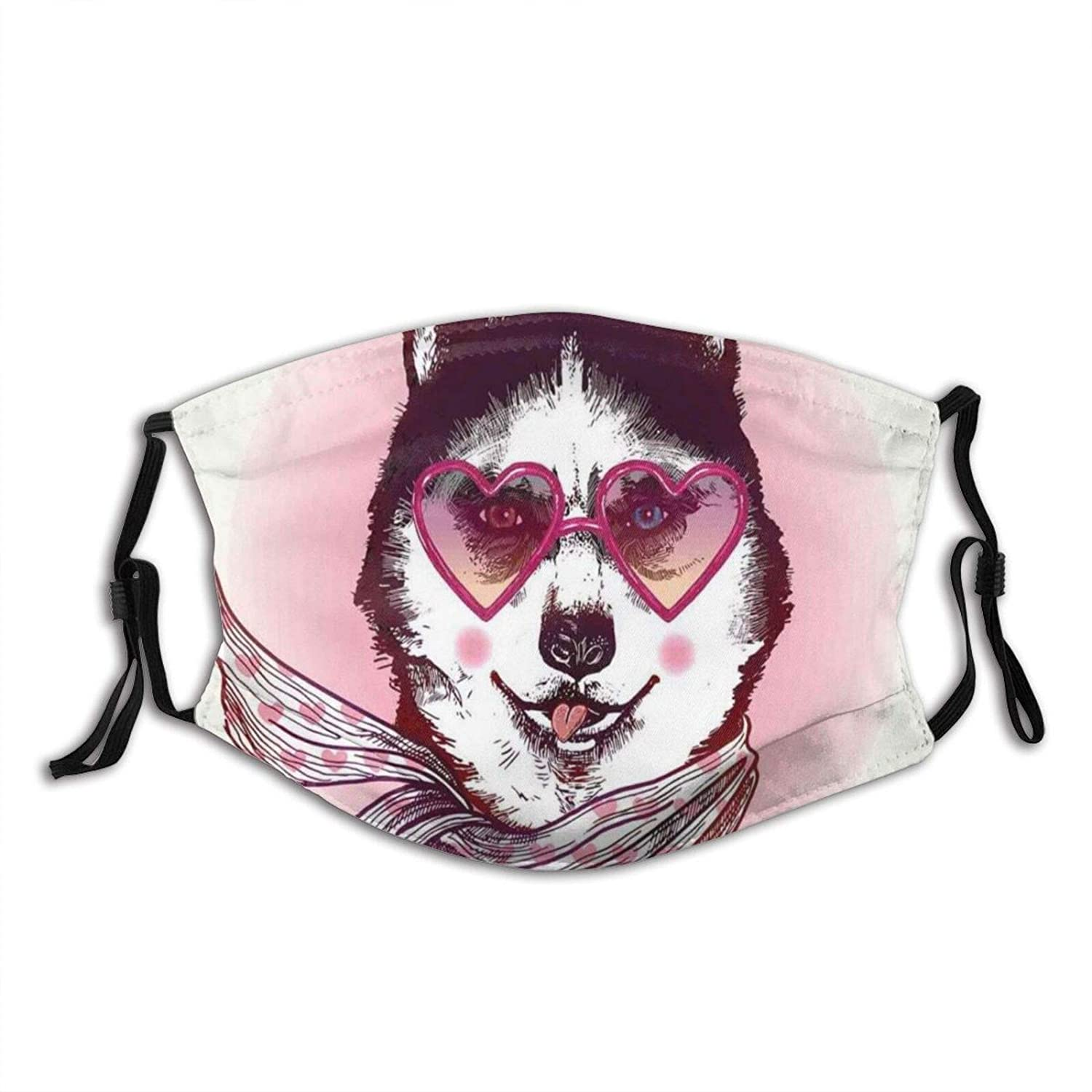 Inventory cleanup selling sale Comfortable Windproof mask,Hipster Husky Selling Heart Dog Sha With