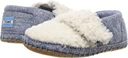 Natural Faux Shearling/Chambray