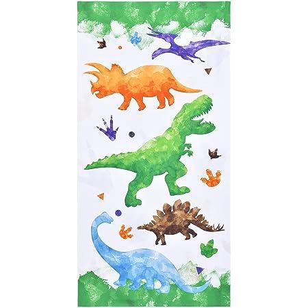 Teli mare Dinosauro - 76 x 152 cm Microfibra Asciugamani per Bambini Ragazzi Asciugamani da campeggio Assorbente Teli bagno Telo da Spiaggia Viaggio Nuoto Piscina Picnic Asciugamano da spiaggia