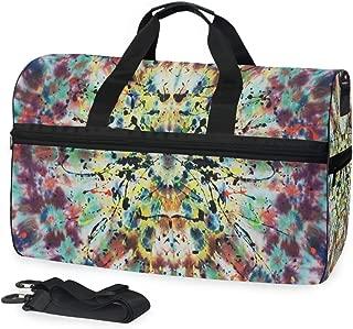 Kajuer Canvas Travel Bag Casual Crossbody Shoulder Bags High Capacity Weekender Package Storage Bag Color : Blue